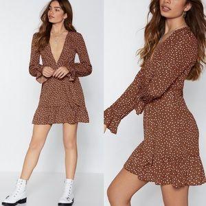 Nastygal If You Do It, Flaunt It Spotty Dress NWT